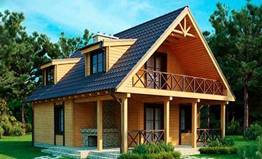 МИЛАН - проект дома из профилированного бруса.
