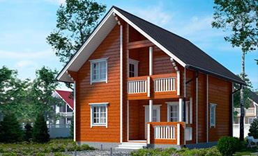 ФЕНИКС - проект дома из профилированного бруса.