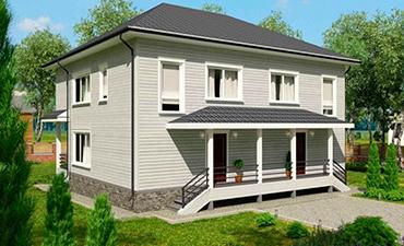АВРОРА - проект дома из профилированного бруса.