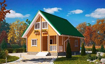 МОДЕРА - проект дома из профилированного бруса.