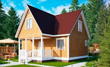 АЛЕППО - проект дома из профилированного бруса.