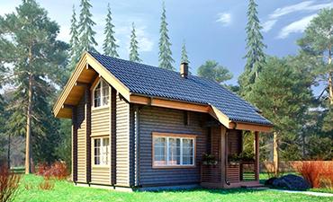 АЛЬМЕРИЯ - проект дома из профилированного бруса.