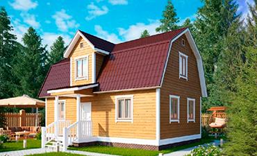 АНЖЕ - проект дома из профилированного бруса.