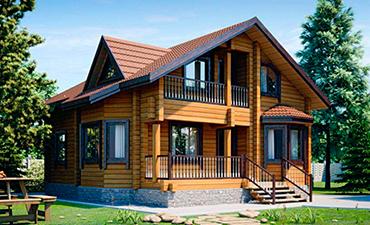 ДЕЛИ - проект дома из профилированного бруса.
