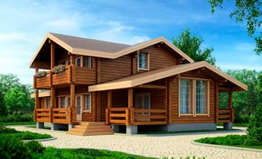 ЭДИНБУРГ - проект дома из профилированного бруса.