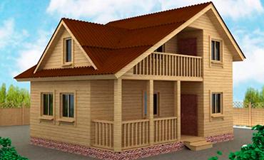 ГРАНАДА - проект дома из профилированного бруса.