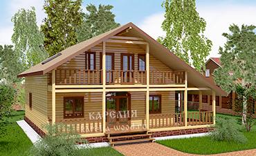 КЁЛЬН - проект дома из профилированного бруса.