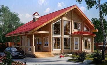 МАНЧЕСТЕР - проект дома из профилированного бруса.