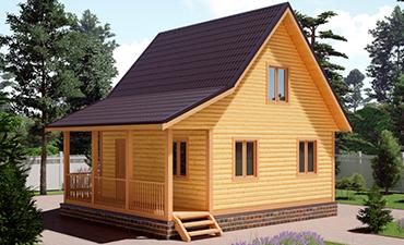 МАРСЕЛЬ - проект дома из профилированного бруса.