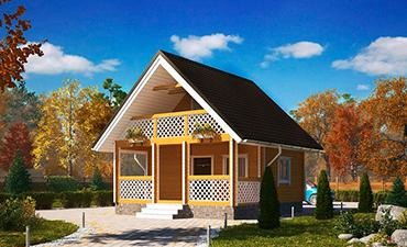 МОНАКО - проект дома из профилированного бруса.