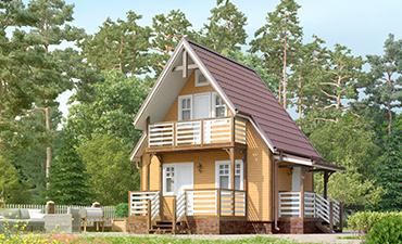 МОНТАНА - проект дома из профилированного бруса.