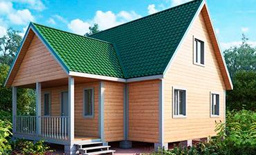 ОЛЬБОРГ - проект дома из профилированного бруса.