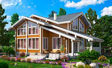 Орлеан - проект дома из профилированного бруса.