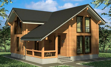 ПАЛЕРМО - проект дома из профилированного бруса.