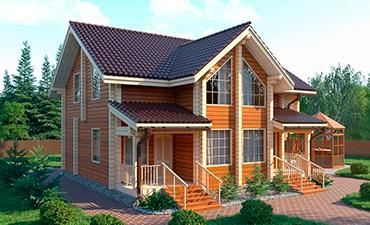 РИГА - проект дома из профилированного бруса.