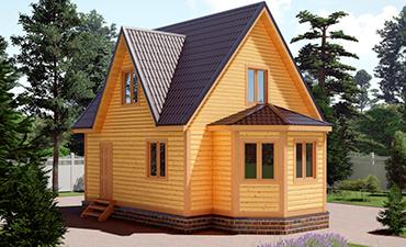 ВЕНЕЦИЯ - проект дома из профилированного бруса.