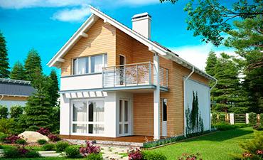 ВИКТОРИЯ - проект дома из профилированного бруса.